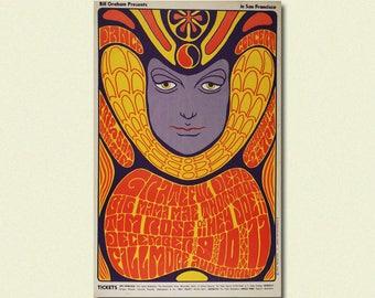 Fillmore Music Festival Print 1968 - Vintage Music Print Rock Poster Festival Poster Vintage Music Fillmore Poster Birthday Gift Idea