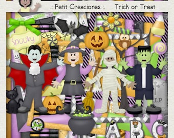 "KIT SCRAPBOOKING DIGITAL ""Trick or Treat"""