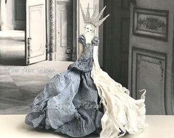 The Snow Queen 3D Fairytale Paper Doll - Paper Sculpture - Paper Art Doll - Paper Dress -  3 Dimensional Paper Doll - Nursery Decor