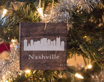 Nashville skyline ornament Tennessee Christmas ornament