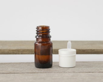 5ml Essential Oil Bottle with White Cap - Use to Bottle to Blend your own Essential Oils.  Mix your own scents and fragrances. Aromatherapy