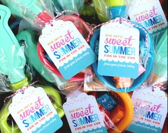 Summer Collection. Hang Tag. PERSONALiZED. DiY Printable Design. Pinkadot Shop