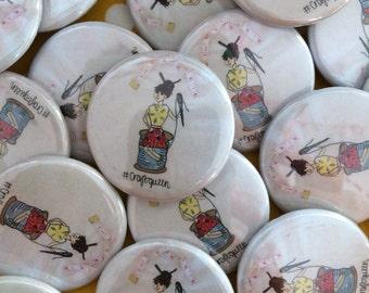 Craft queen pin badge