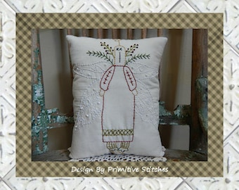 Morgan-Angel-Primitive Stitchery E-PATTERN-INSTANT DOWNLOAD
