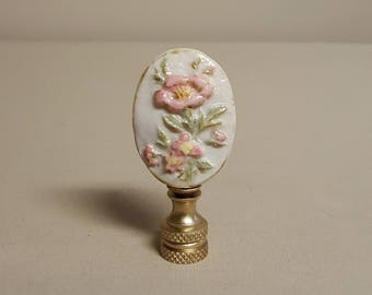 Floral Cameo Lamp Finial...Custom crafted to order.