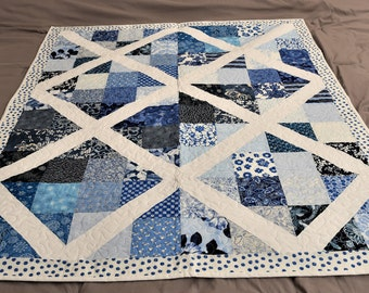 Blue and white Crib quilt