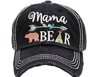 Mama Bear Arrow Vintage Style Baseball Cap