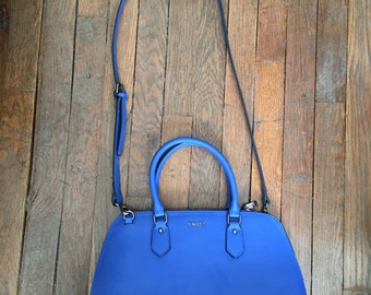 YNOT? Blue leather italian bag