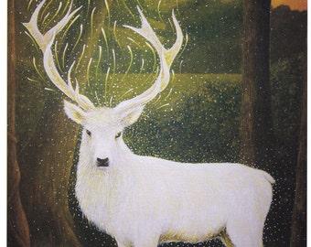 White Hart and the Tor. Fine Art Print