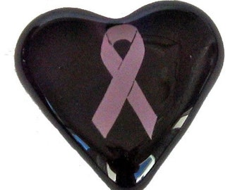 Breast Cancer Awareness 'Pink Ribbon' Purple Heart