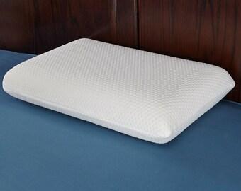 Memory Foam Pillow, Slow Rebound, Hexagon Jacquard Design, One Size
