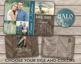 Rustic Save the Date, ANY COLOR, save the date postcard, save the date calendar postcard, save our date, save our date calendar