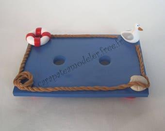 Sailor theme blue SOAP dish
