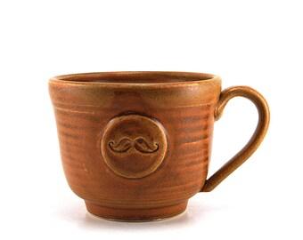 Brown Mustache Coffee Mug Ready to Ship