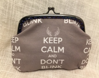 Dr Who Don't Blink Coin Purse