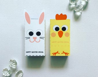 Bunny and chick smarties boxes cover