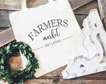 Market Tote Bag, Farmers Market Tote, Reusable Tote Bag, Reusable Tote Bag, Market Bag, Canvas Tote Bag, Gift for Mom