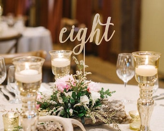 Table Numbers, Wedding Table Numbers, Custom Table Names