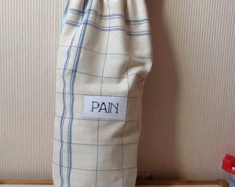 Bag has cotton sky blue towel