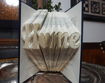 Home is Where Your Heart Is - Folded Book Art