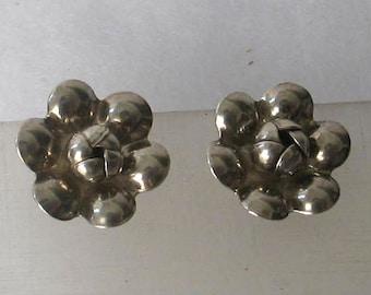 Verkauf Vintage Blumen Sterling Schraube auf Ohrringe