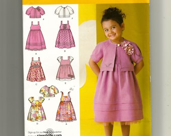 Simplicity Girl's Dress In Two Lengths and Jacket Pattern 2710