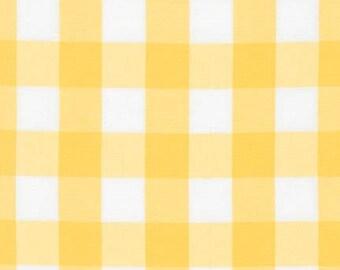 "SUNFLOWER 1"" Plaid Cotton, Carolina Gingham, Scarf Fabric, Quilting fabric, Apparel Fabric, Plaid cotton Scarf, Robert Kaufman"