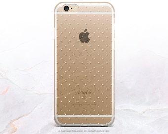 iPhone 8 Case iPhone X Case iPhone 7 Case Tiny Polka Dots Clear GRIP Rubber Case iPhone 7 Plus Clear Case iPhone SE Case Samsung S8 Case U93