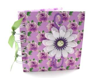 Field of Roses Gratitude Book, gratitude journal, thank you book, thank you journal, gratitude diary, blessings book - lavender