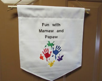 Personalized Flag for Grandparents or Parents
