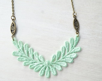 Mint Lace Necklace