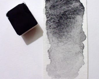 Charcoal Black - Handmade Watercolor Paint - Art Supply - Artist Gift - Art Paint - Handcrafted Professional Watercolour