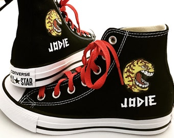 Softball Shoes Personalized Converse Youth Shoes Personalized with name