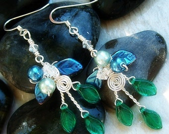 Art Nouveau Earrings Rivendell Spring Elven Forest