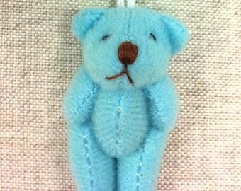 Charm mini bear blue sky, 3.5 cm
