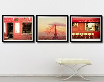 Paris in Red, Paris photography, Paris photo set - Paris in Red