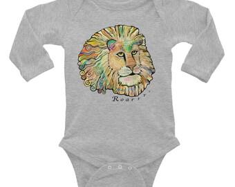 Lion Infant Long Sleeve Bodysuit, The Fonz Lion Onesie
