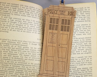 TARDIS Bookmark with Tassel - Laser Engraved Alder Wood - Doctor Who Book Mark
