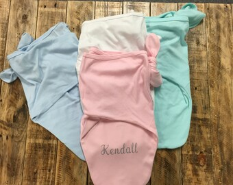 Personalized Baby Swaddler, Baby Name Swaddle Blanket