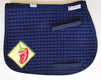Be Hot! Pony Saddle Pad for English Saddles in Navy Blue HP-86