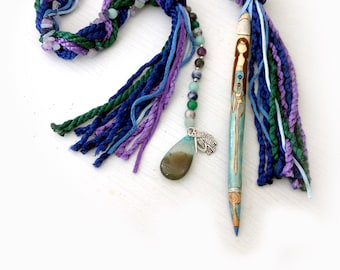 Lady of the Lake Ritual Cord - witch witchcraft pagan merlin avalon glastonbury goddess raven sword moon nimue lady of the lake morgana