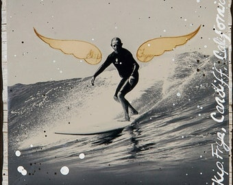 FLY, SKIP FRYE, 8x10, 11x14, 16x20, Hand Signed Matted Print, Cardiff Reef, California, Surfing, Legendary Shaper, Ocean Art, Surf Art