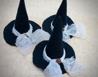 Witch Hat Bowl Fillers | Primitive Witch Hat | Witch Hats | Conical Hat | Halloween Decor | Witch hat ornaments | Primitive Halloween decor