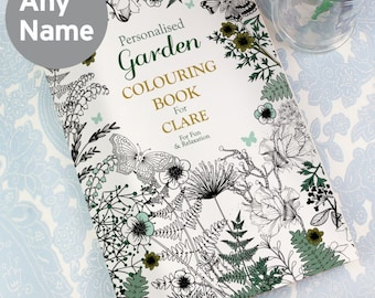 Personalised Gardening Adult Colouring Book - A4 28 Pages Colour Therapy - Anti Stress