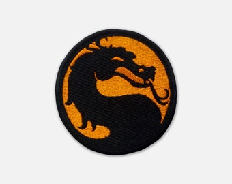 Mortal Kombat logo embroidered patch