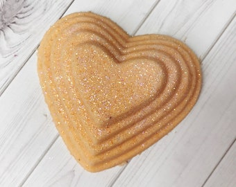Heart Bath Bomb, Heart Bath Fizzy, Stacked heart, Bath Bomb, Bath, Heart, Lavender, Lemon
