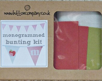 Bunting Kit - The Button Company Easy Monogrammed Bunting Kit