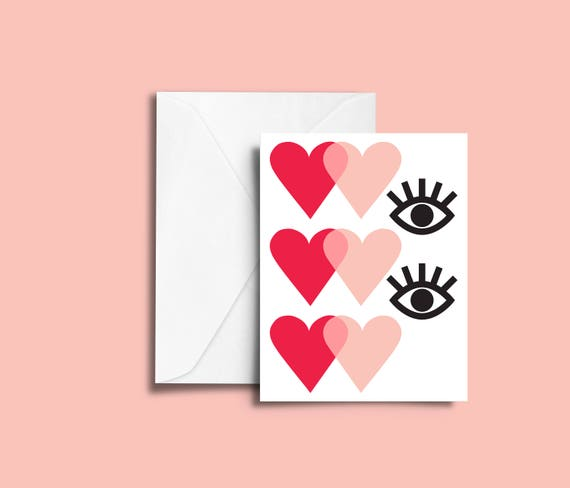 VALENTIN'S DAY French me // Valentine's day Card, Scandinavian Design, Pastel colors, abstract art