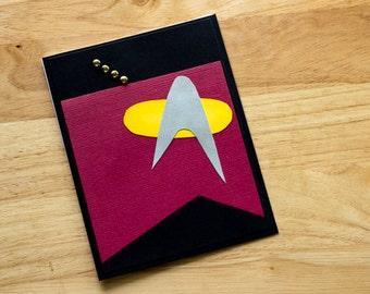 Geek Card, Star Trek The Next Generation Captain Picard Blank greeting card, Star Trek TNG Geeky card