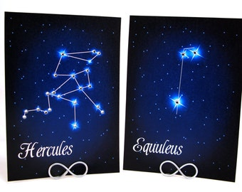 Star Constellations Sparkling with Swarovski Crystals Wedding Table Number Cards